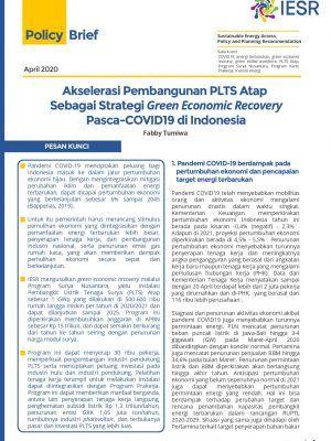 Akselerasi Pembangunan PLTS Atap Sebagai Strategi Green Economic Recovery Pasca-COVID19 di Indonesia