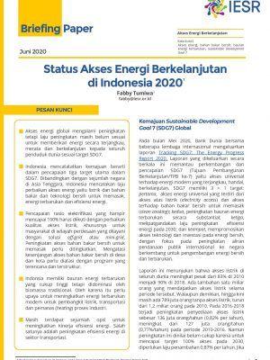 Status Akses Energi Berkelanjutan di Indonesia 2020