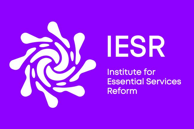 IESR_logo combined white on purple